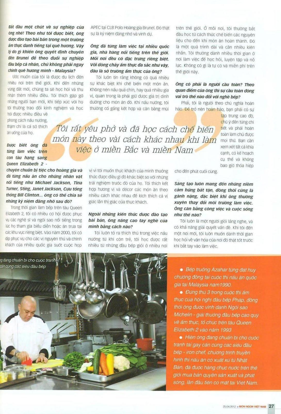 chef azahar curriculum vitae